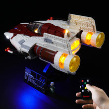 Load image into Gallery viewer, Briksmax Light Kit For Lego A-Wing Star Fighter 75275