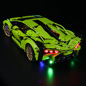 Briksmax Light Kit For Lego Lamborghini Sián FKP 37 42115