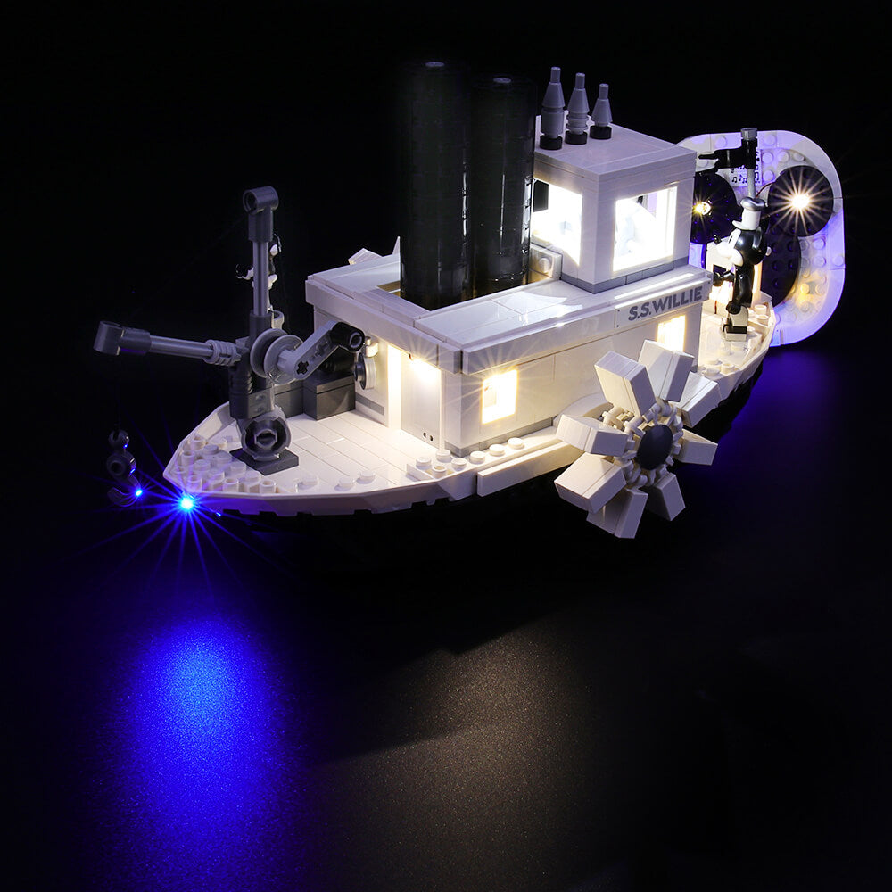 Briksmax Light Kit For Lego Steamboat Willie 21317
