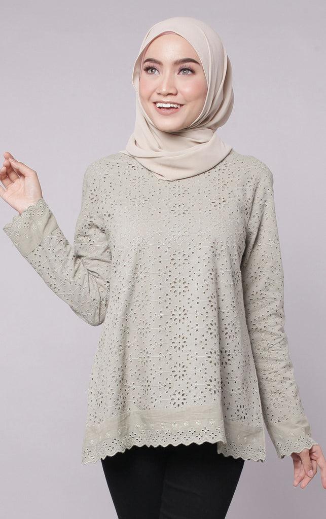 Eyelet Lace Blouse
