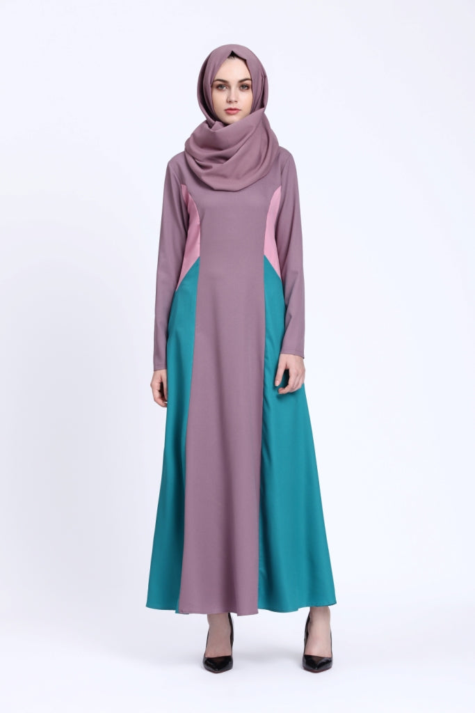 Trendy Three Tone Abaya