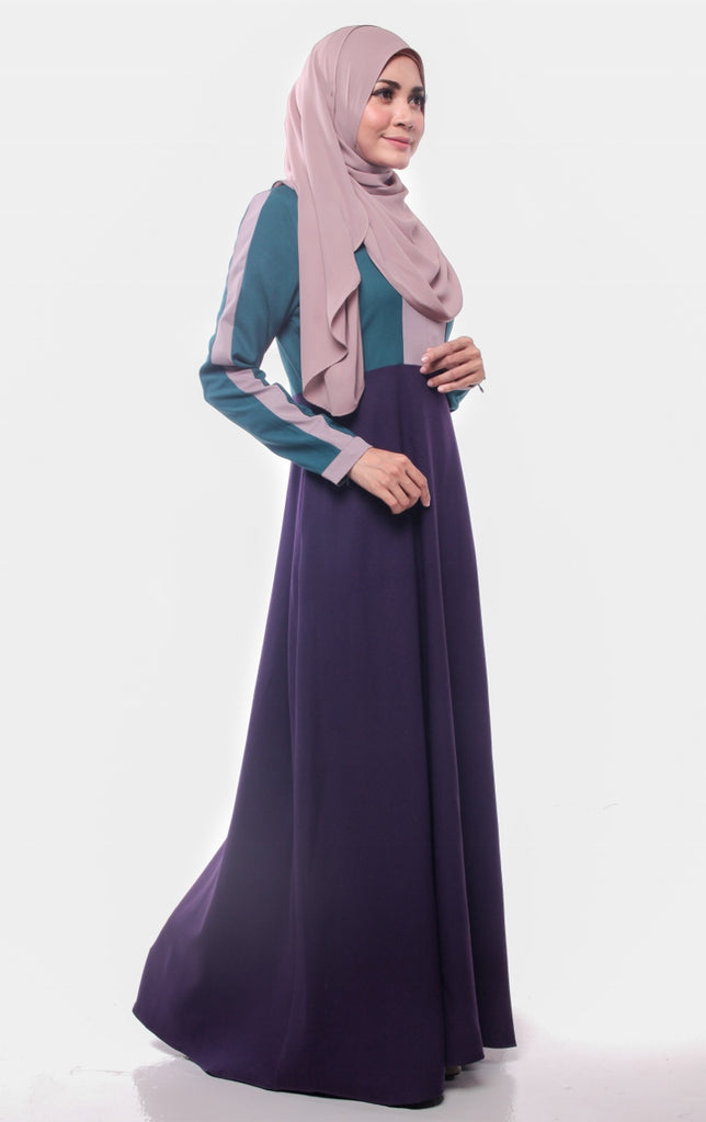 Dark Green Trendy Joint Color Abaya