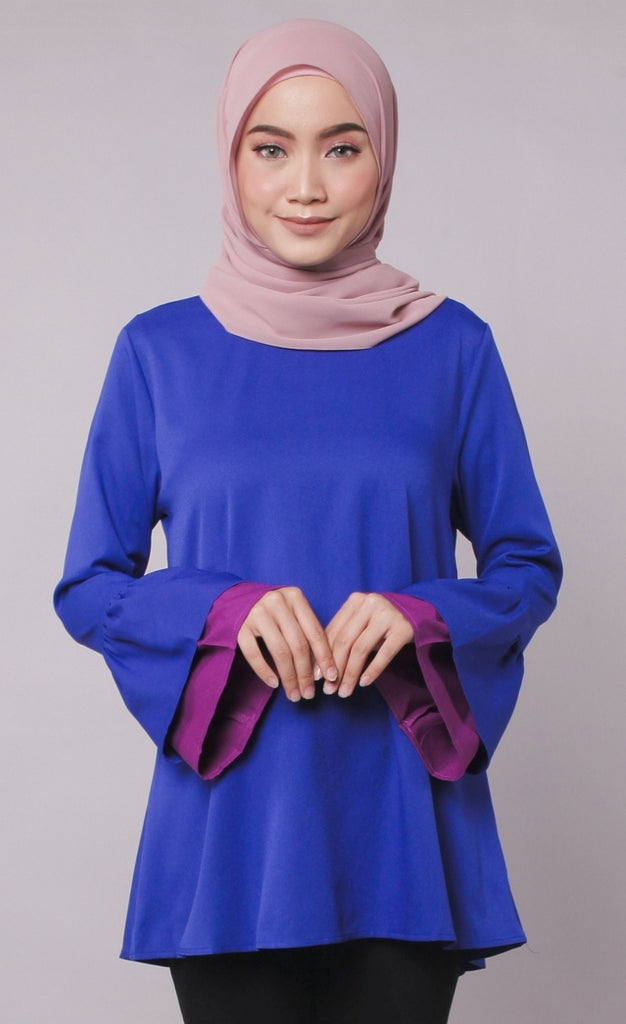 Blue Joint Colour Trumpet Abaya