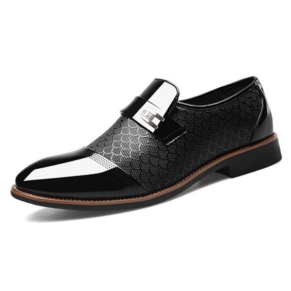Men Leather Office Shoes British Business Suit Formal Plus Size Oxford Shoes