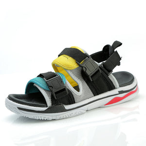 Mesh men's casual high quality flat beach sandals