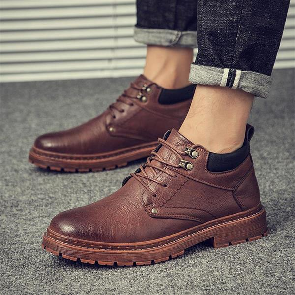 New leather casual platform Martin boots