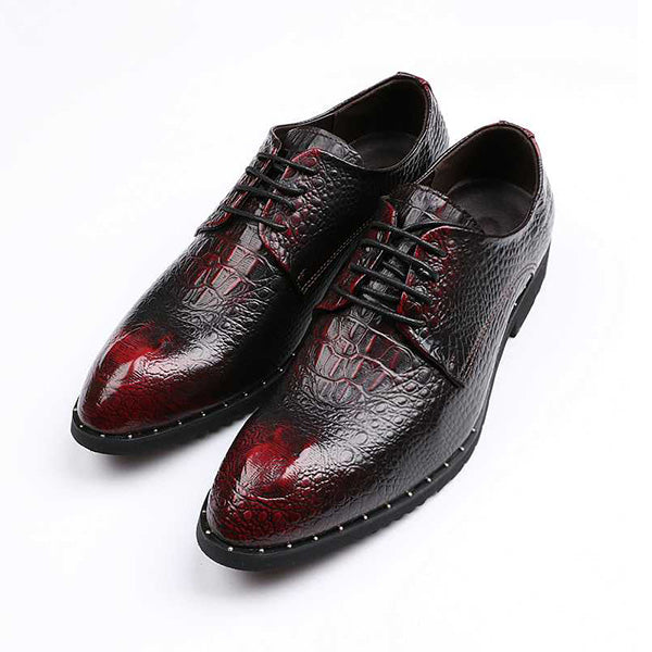 British Style Leather Shoes Men's Wedding Business Shoes Casual Oxford Breathable Shoes