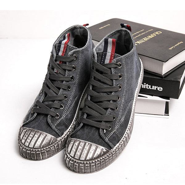 Washed old canvas breathable Korean casual shoes