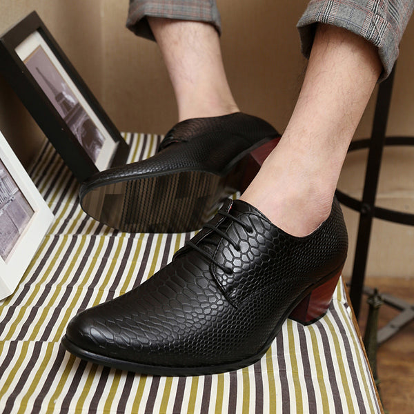 Formal Business Party Dress Mens Shoes High Heels Leather Shoes For Wedding Shoes