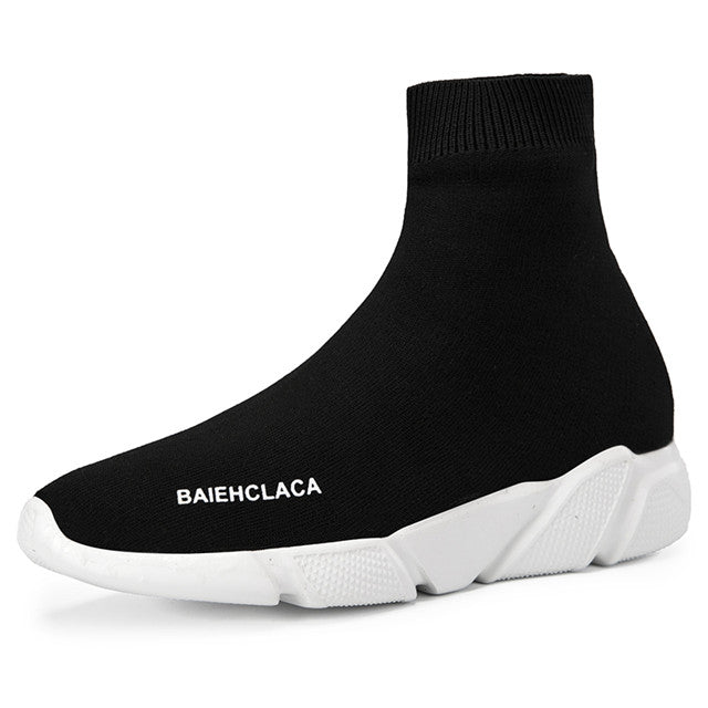 Low Price Sports Black High Neck Casual Sock Shoes