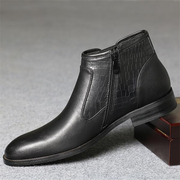 British leather Chelsea men's boots