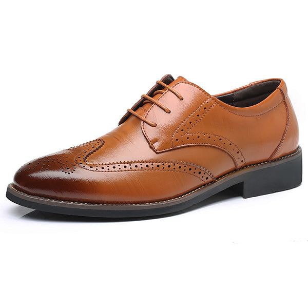 business mens dress shoes genuine leather Italian fashion male shoes