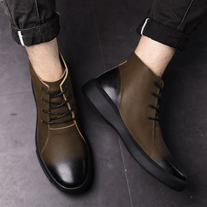 Men'S Shoes Outdoor Casual Shoes Motorcycle Boots England Boots