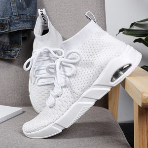 Men Fashion Running Breathable  Knitted Travel Shoes