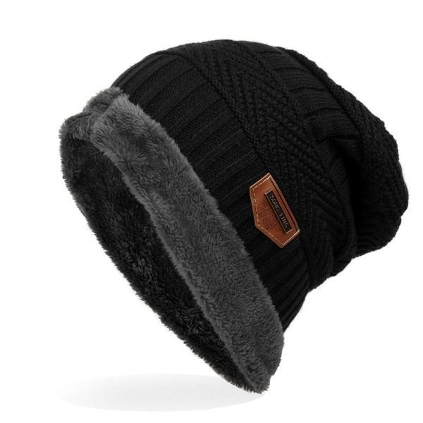 Hat for Men and Women Winter Warm Hats Knit Slouchy Thick Skull Cap 1