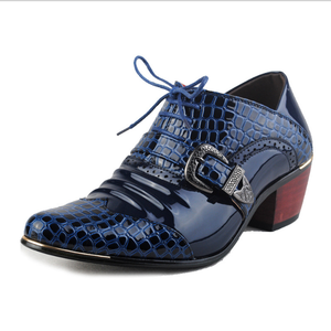 Luxury Men Formal Shoes High Heels Business Dress Shoes