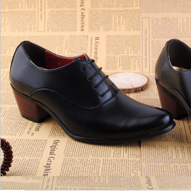 High Heeled Men's Shoes With Increased British Shoes