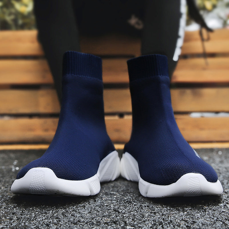 Knit Upper Breathable Sock Chunky Running Sneakers