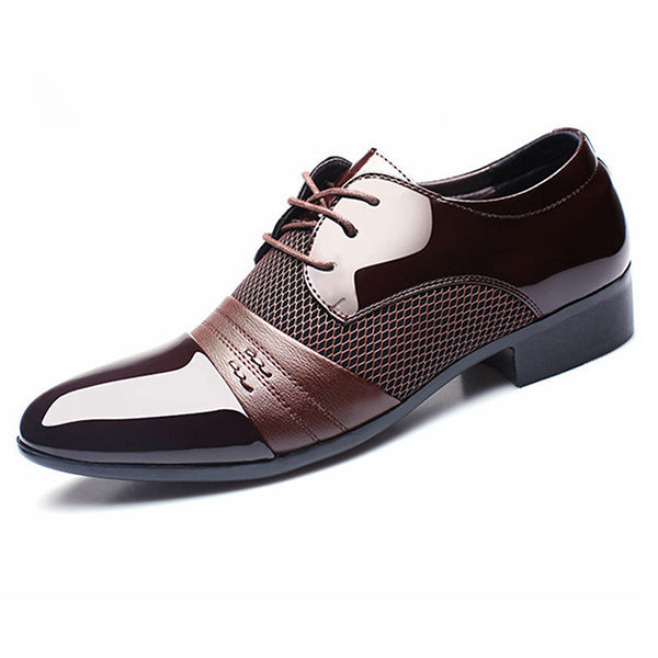 Men Dress Shoes Plus Size Men Business Flat Shoes Breathable Low Top Men Formal Office Shoes
