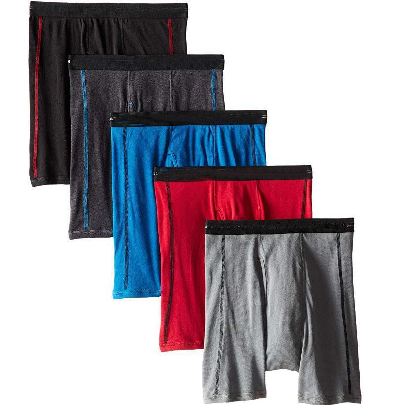 Gedess Men's 5-Pack Sports-Inspired Boxer Brief(5-Pack)