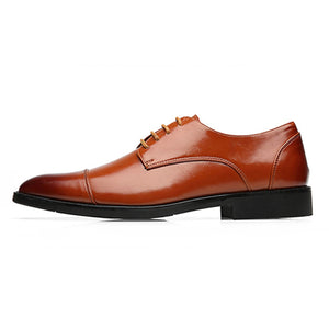 Leather Business Casual Shoes Men Dress Office Luxury Shoes Male Breathable Oxfords Men Formal Shoes
