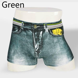 Gedess 3D Men's Cotton Denim Jeans Boxer Briefs