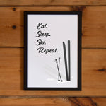 Eat sleep ski repeat, , Heimekoseleg