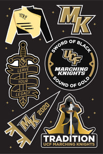 Marching Knights Sticker Sheet