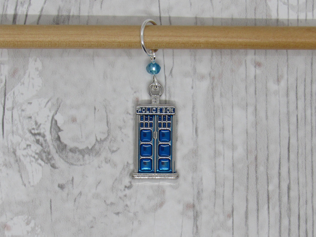 Police Box Stitch Marker / Progress Keeper