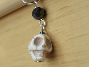 Spooky Skull Stitch Marker / Progress Keeper