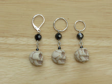 Load image into Gallery viewer, Spooky Skull Stitch Marker / Progress Keeper