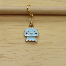 Load image into Gallery viewer, Blue Jellyfish Stitch Marker / Progress Keeper