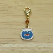 Load image into Gallery viewer, Goldfish Bowl Stitch Marker / Progress Keeper