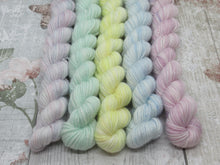 Load image into Gallery viewer, Merino and Nylon Sparkle Mini skeins in Winter colours