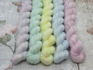 Merino and Nylon Sparkle Mini skeins in Winter colours