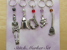 Load image into Gallery viewer, Spooky Stitch Marker / Progress Keeper set