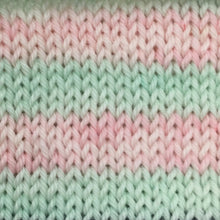 Load image into Gallery viewer, Self Striping Yarn in Blossom Pink and Spring Green