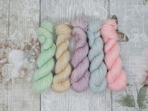 Merino Bamboo 10g Mini Skein Set in Pastel Colours