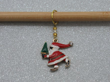 Load image into Gallery viewer, Santa and Tree Stitch Marker / Progress Keeper