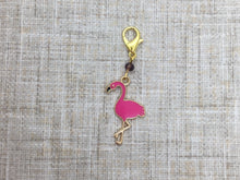 Load image into Gallery viewer, Flamingo Stitch Marker / Progress Keeper