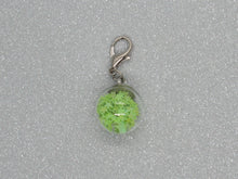 Load image into Gallery viewer, Green Star filled Bauble Stitch Marker / Progress Keeper