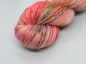 Silver Sparkle 4ply 100g in OOAK Festive colourway