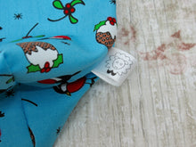 Load image into Gallery viewer, Christmas Robin and Christmas Pudding Project Bag