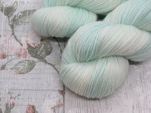 Load image into Gallery viewer, Silver Sparkle 4ply 100g in Icy colourway