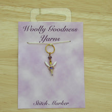 Load image into Gallery viewer, Lilac Fairy Stitch Marker / Progress Keeper