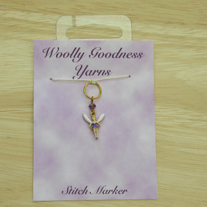 Lilac Fairy Stitch Marker / Progress Keeper