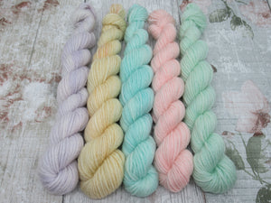 Merino Bamboo 20g Mini Skein Set in Pastel Colours