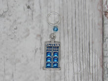 Load image into Gallery viewer, Police Box Stitch Marker / Progress Keeper