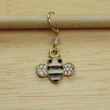 Load image into Gallery viewer, Sparkly Bee Stitch Marker / Progress Keeper