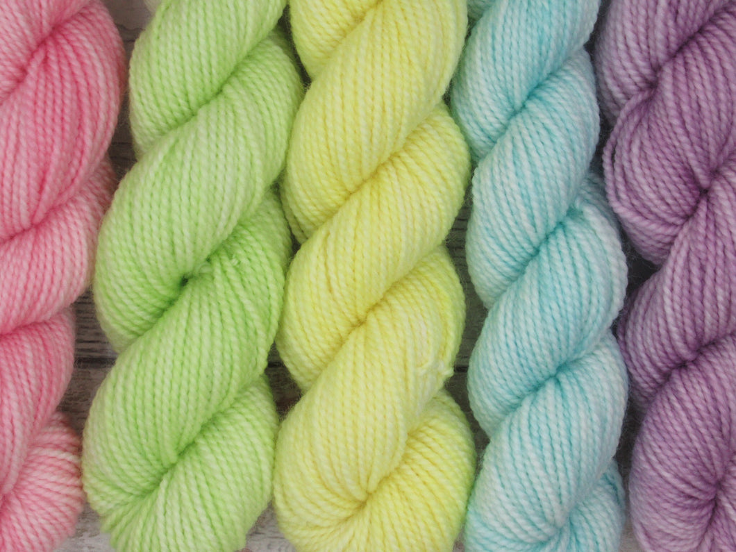 Merino Nylon mini skein set in pastel colours